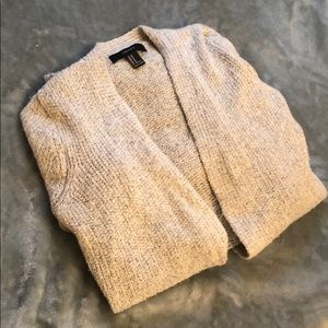 NWOT Forever 21 chunky gray knit cardigan M